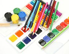 Free Pencils And Paints Stock Photography - 14707832