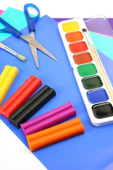 Free Paints And Plasticine Royalty Free Stock Images - 14707949