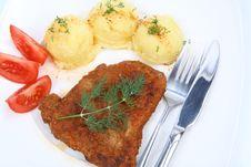 Free Pork Chop, Potato, Tomato Stock Images - 14707994