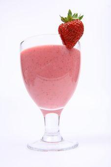 Strawberry Shake Stock Photography