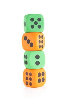 Free Colorful Dice Stock Photo - 14708330