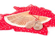 Free Flamenco Fan With Castanets Stock Photography - 14708492