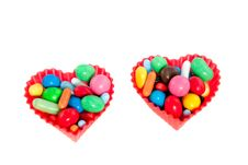Free Heart Molds Filled With Candy Stock Image - 14708581