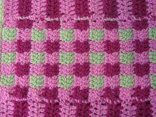 Free Pink Crochet Blanket Stock Photo - 14709110