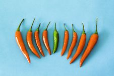 Free Red And Green Hot Chili Peppers Royalty Free Stock Image - 14709706