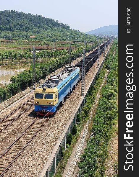 Coal railway transportation