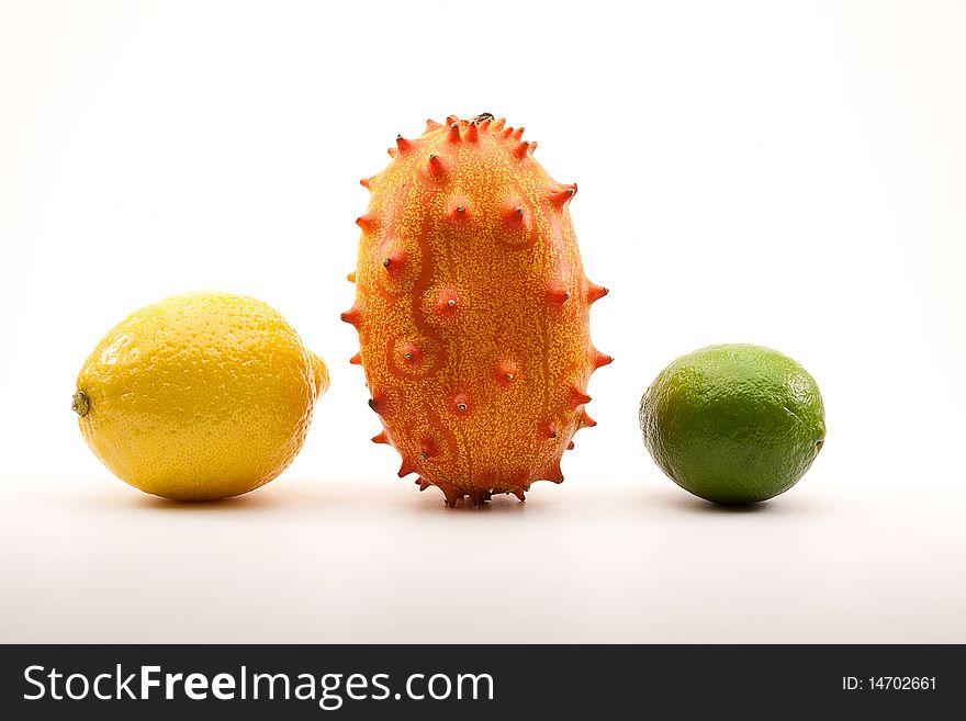 Lemon, Horned Melon and Lime