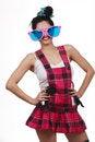 Free Girl Wearing Large Pink Eyeglasses Stock Photography - 14715782