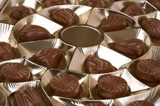 Box With Chocolates Royalty Free Stock Photography