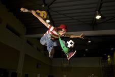 Free Entertaining Soccer Fan Royalty Free Stock Photo - 14711165