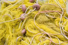 Free Fishing Tackle: Net, Float, Rope Close-up Royalty Free Stock Photography - 14711817