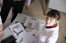 Young Charming Businesswoman Stock Photos