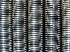 Steel Springs Background Stock Photography