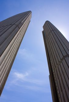 Free Two Highrises On Sky Background Royalty Free Stock Photos - 14714528