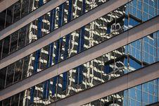 Skyscraper Window Reflections Stock Photography