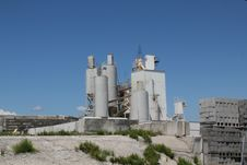Cement Factory Royalty Free Stock Photo