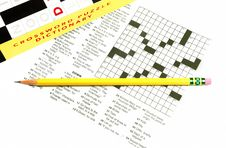 Crossword And Helper Royalty Free Stock Photo
