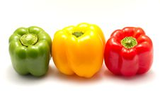 Free Three Bell Pepper Royalty Free Stock Images - 14714989