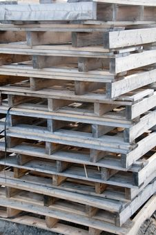 Free Stacked Weathered Pallets Stock Photo - 14715000