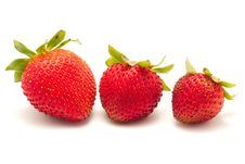 Free Three Ripe Strawberries Stock Photos - 14715003