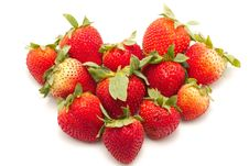 Free Heart Shape Strawberries Stock Images - 14715014