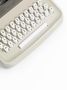 Free Retro Typewriter Keyboard Stock Images - 14715264