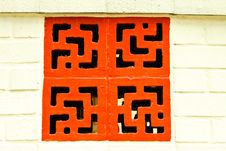 Chinese Brick Wall Stock Image
