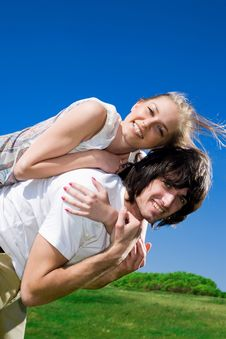 Free Long-haired Girl With Smile And Boy Stock Photo - 14716320