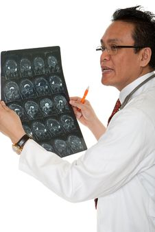 Free Doctor Diagnosis X-ray Stock Image - 14716421