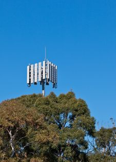 Free Communications Tower Above Trees Stock Photo - 14716710