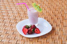 Free Milkshake On The Table Stock Photography - 14717112