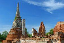 Free Mahatad Temple Ayuttaya Thailand Stock Images - 14717964