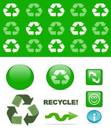 Free Recycling Set Royalty Free Stock Photography - 14718567