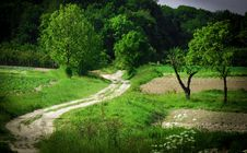 Landscape In Southern Poland Stock Images