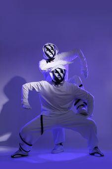 Free Hip Hop Dancers In Studio Stock Image - 14718861