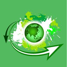 Free Earth With Green Nature Royalty Free Stock Image - 14718886