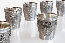 Cups For Wine Stock Photography