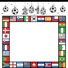 Free Football Flag Frame Stock Photography - 14719862