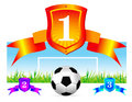 Free Soccer Shield Background Royalty Free Stock Photography - 14720237