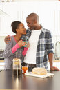 Free Young Couple Preparing Breakfast In Kitchen Royalty Free Stock Image - 14720376