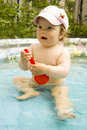 Free The Surprised Child In Pool Royalty Free Stock Photo - 14724935