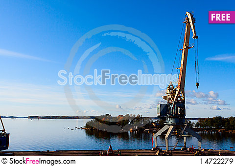 Free Sea Port Cranes Royalty Free Stock Images - 14722279