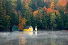 Free Yellow Boathouse Stock Photography - 14720022