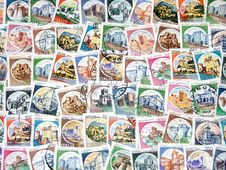 Free Stamps Of Italy Royalty Free Stock Image - 14720336