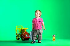 Free The Portrait Of A Happy Little Boy Stock Photography - 14720342