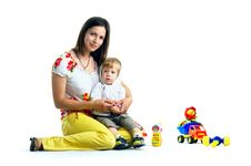 Free The Portrait Of A Little Boy And His Mother Royalty Free Stock Photos - 14720358