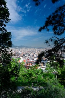 Free Barcelona View Royalty Free Stock Photography - 14720437
