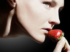 Free Woman And Strawberry Stock Photos - 14720603