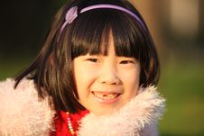 Free Asian Girl In Autumn Royalty Free Stock Images - 14721099