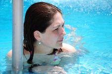 Free Girl In Pool Stock Image - 14721201
